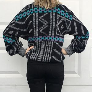 Vintage Knit 80s Style Sweater